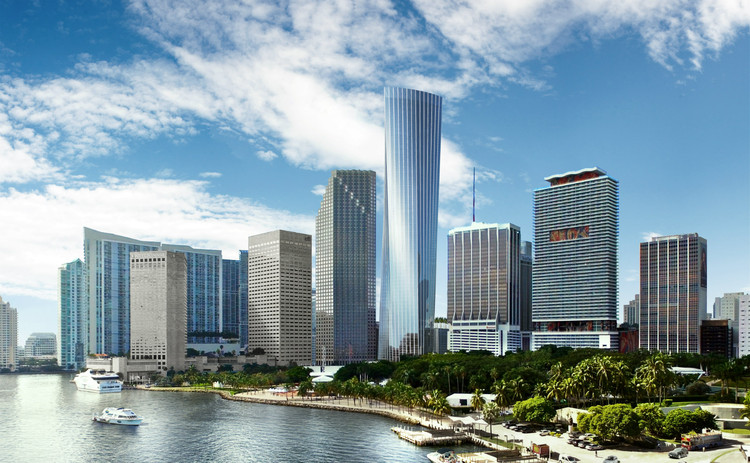 KPF's One Bayfront Plaza to Share Title of Miami's Tallest Tower, © KPF