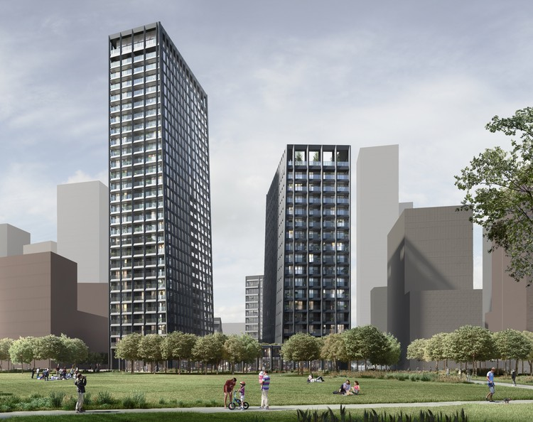 Alison Brooks Architects Designs First London Highrise for Greenwich Peninsula Development, © Alison Brooks Architects