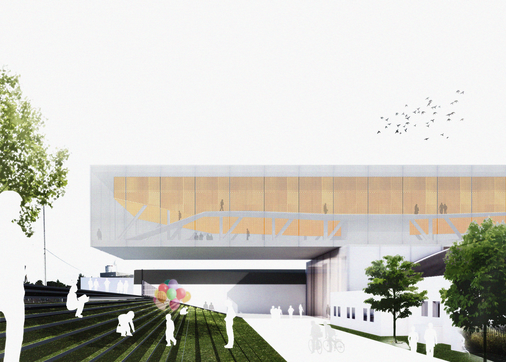 Bee breeders announces winners for kip island auditorium for Small house design competition