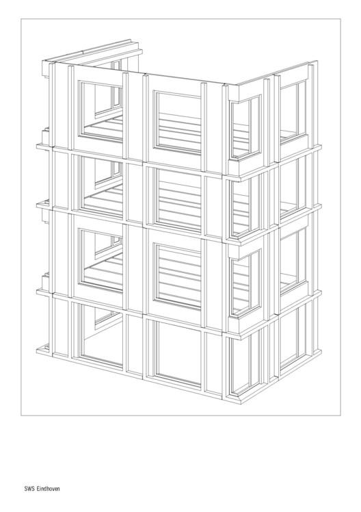 نمونه عکس معماری پلان های کاملا پیش ساخته یک ساختمان خوابگاه