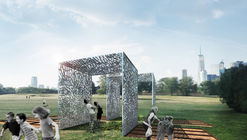 Pavilion Made from Aluminum Cans and Cracked Clay Wins 2017 City of Dreams Competition