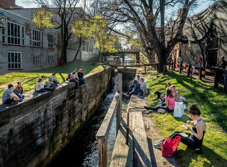 James Corner Field Operations Selected to Transform Historic Canal Park in DC Neighborhood of Georgetown, Courtesy of James Corner Field Operations