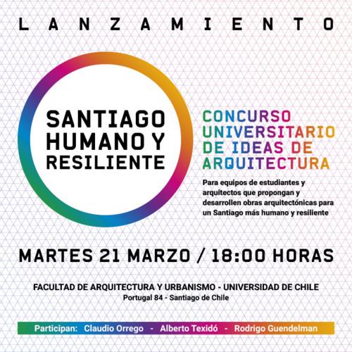 Conferencia/Lanzamiento del concurso 'Santiago Humano y Resiliente'