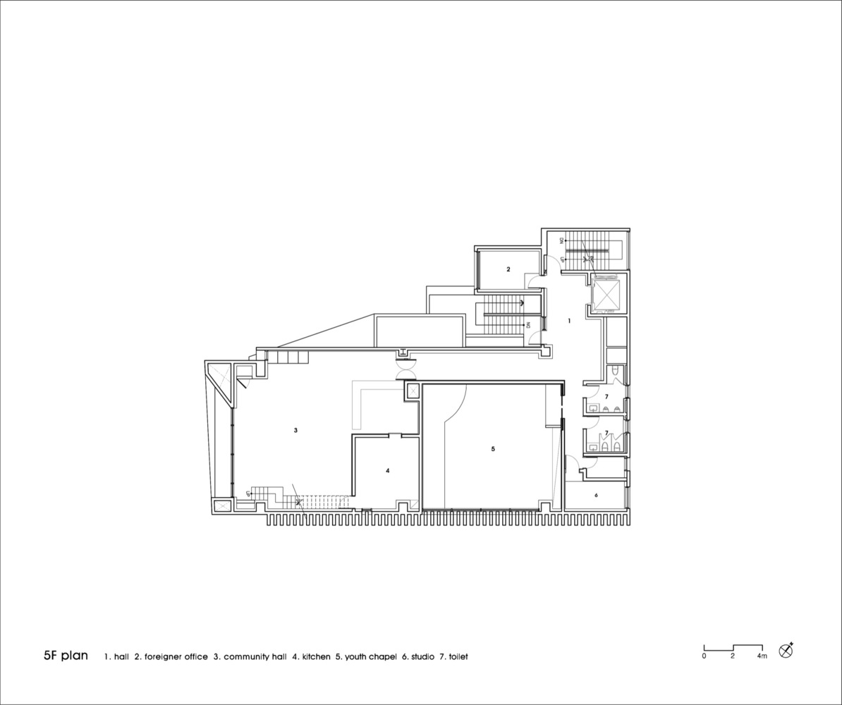 gallery of the closest church heesoo kwak and idmm architects 9 the closest church floor plan 05