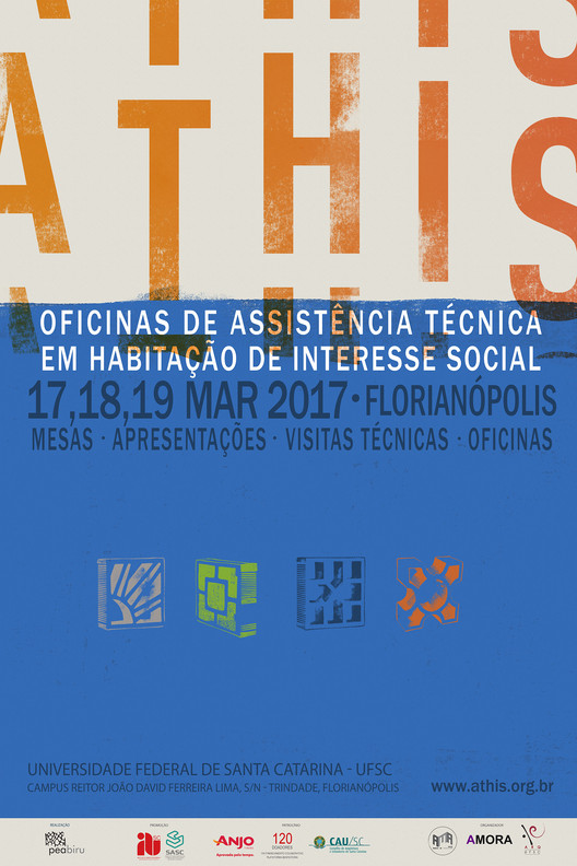 Oficina de Assistência Técnica em Habitação de Interesse Social (ATHIS), Cartaz Oficina Athis Florianópolis. Organização GT-Habitação