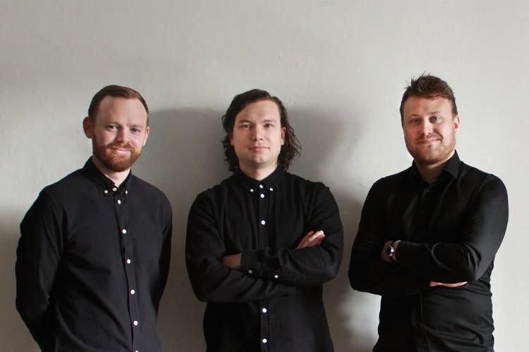 Brian Vargo, Jonas Snedevind Nielsen and Mathias Palle. Image © Vargo Nielsen Palle, ADEPT and Rolvung & Brøndsted Arkitekter