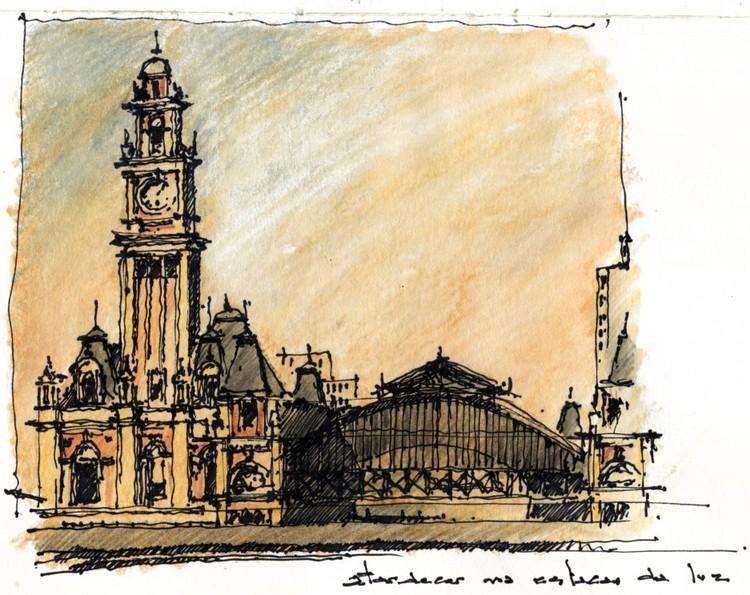 Como representar a arquitetura (depois de construída)?, Estação da Luz. Image Cortesia de Terra Urbanismo