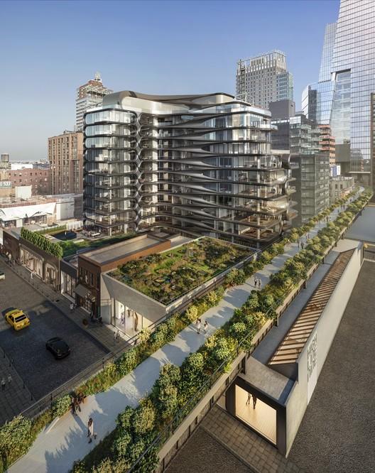 15 Galerias serão inauguradas em torno do edifício residencial de Zaha Hadid no High Line, Cortesia de Related Companies