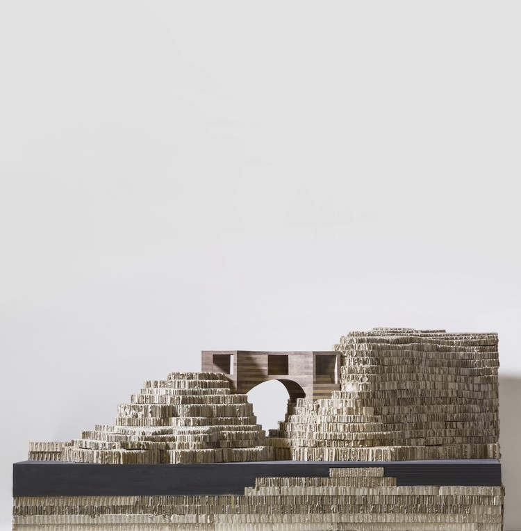 Model of the proposed new building. Image © Carmody Groarke