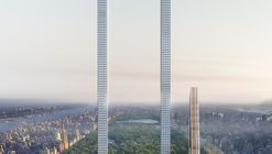 """The Big Bend"" Imagines the World's Longest Skyscraper for Billionaires' Row in NYC"