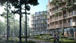 Kjellander Sjöberg Designs Four Cross-Laminated Timber Blocks to Enrich the Uppsala Cityscape