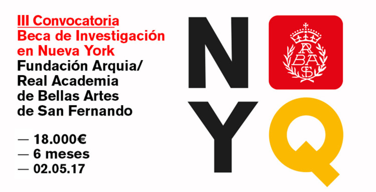 III Convocatoria Beca de Investigación en Nueva York Fundación Arquia / Real Academia de Bellas Artes de San Fernando