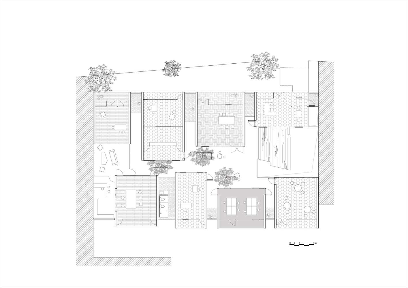 Work Studio In A Plant House,Upper Floor Plan