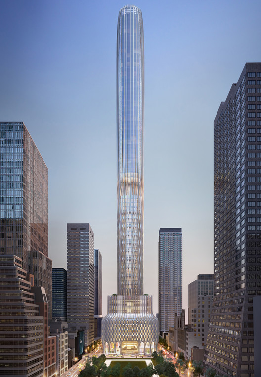 Zaha Hadid Architects presenta diseño de rascacielos de 427 metros de alto en Nueva York, © Zaha Hadid Architects/Kushner Companies