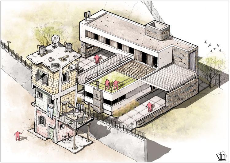 A arquitetura oculta à mão livre, por Fernando Neyra, Contrastes. Image Cortesía de Fernando Neyra