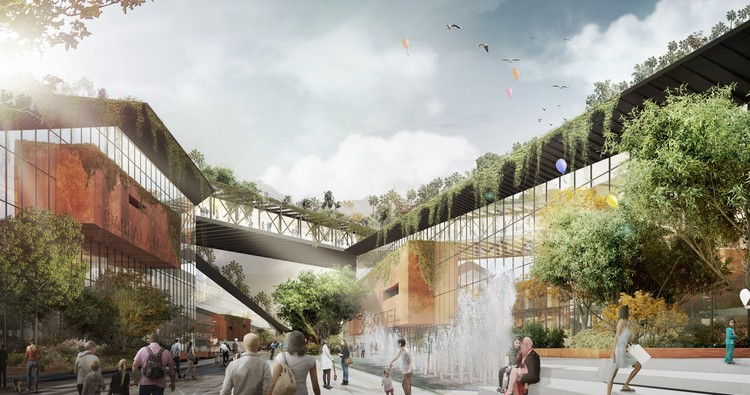 Third-Place Proposal for Turkey's Bandirma Park Embeds Public Spaces in an Urban Landscape, Courtesy of TARI-Architects