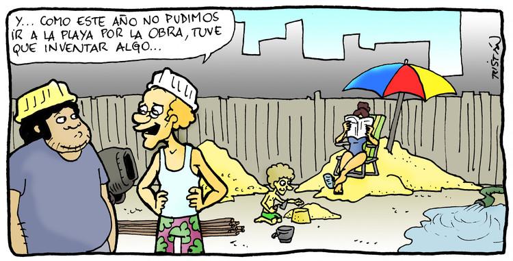 El arquitecto en la construcción: tiras humorísticas por Tristán Comics, Cortesía de Tristán Comics
