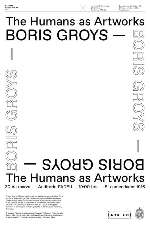 Conferencia | Lanzamiento Revista ARQ: Boris Groys, Trinidad Sanchez