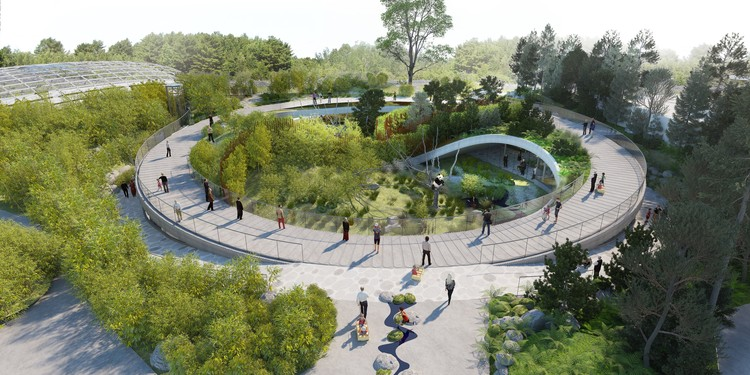 BIG Designs Yin-Yang Shaped Panda Enclosure for the Copenhagen Zoo, © BIG