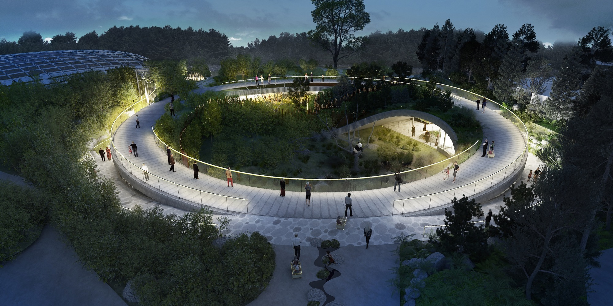 Gallery Of Big Designs Yin Yang Shaped Panda Enclosure For