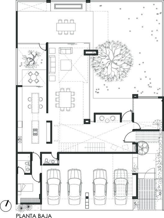 Casa mezquite bag arquitectura archdaily for Arquitectura de casas modernas de una planta