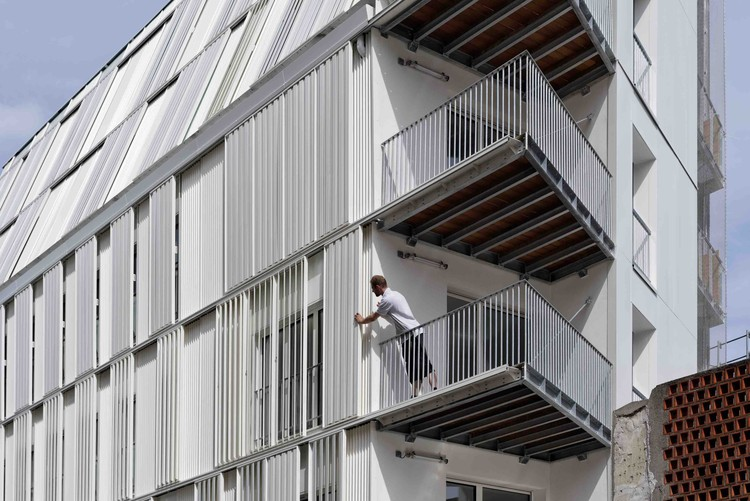 Housing Units Castagnary / Dietmar Feichtinger Architectes, © David Boureau