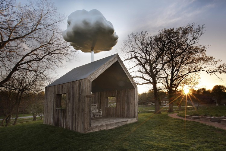 Let the Cloud House Brighten Your Rainy Day, The barn has been constructed of timber and metal salvaged from an abandoned farm. Image Courtesy of Matthew Mazzotta