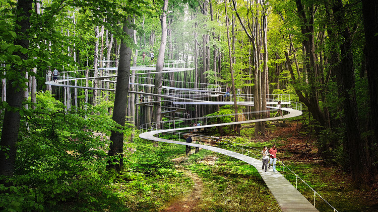 DROR's Parkorman Park in Istanbul Will Let Visitors Trampoline through the Treetops, © DROR
