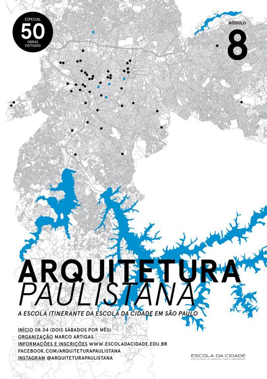 Arquitetura Paulistana - M8 | Especial 50 obras visitadas, cartaz: três design