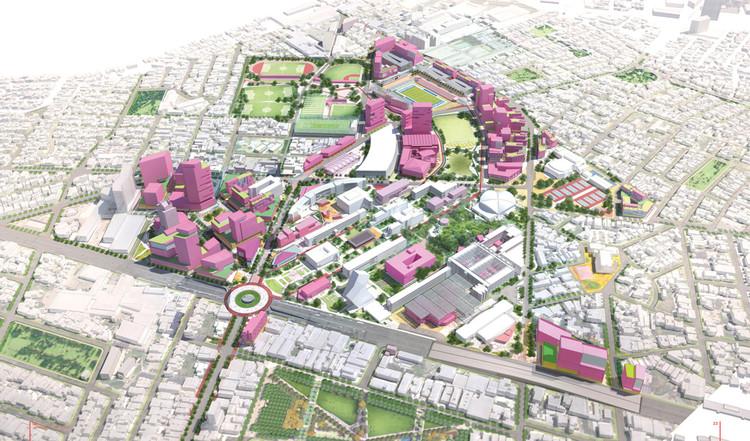 Tercer aniversario DistritoTec: la iniciativa de regeneración urbana del Tecnológico de Monterrey, Master Plan. Image Cortesía de Tecnológico de Monterrey
