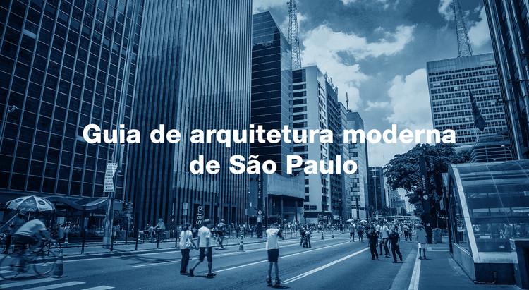 Guia de arquitetura moderna de São Paulo, Montagem realizada com fotografia de Samuel Cabral, via Flickr. Licença CC BY 2.0