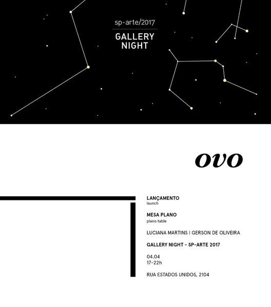 Gallery Night: Lançamento da mesa Plano na galeria OVO, Mesa Plano na Gallery Night.