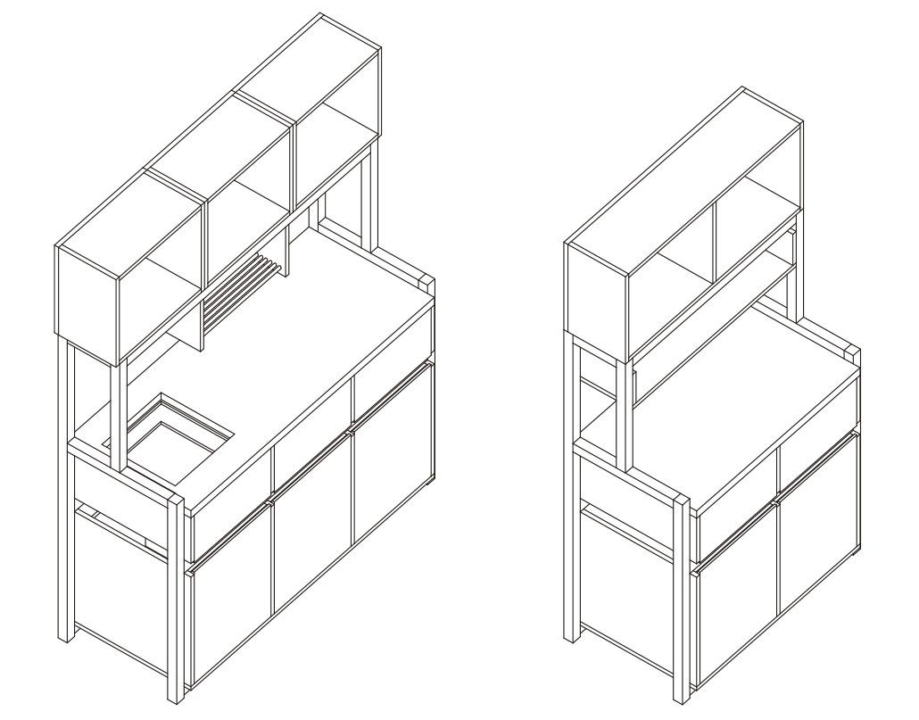 C mo construir una cocina modular parte 1 archdaily for Manual para muebles de cocina