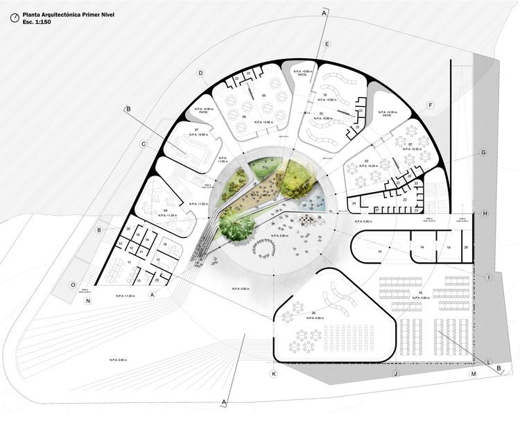 Arquitectura y espacio urbano primer lugar en dise o del for Plantas de colegios arquitectura