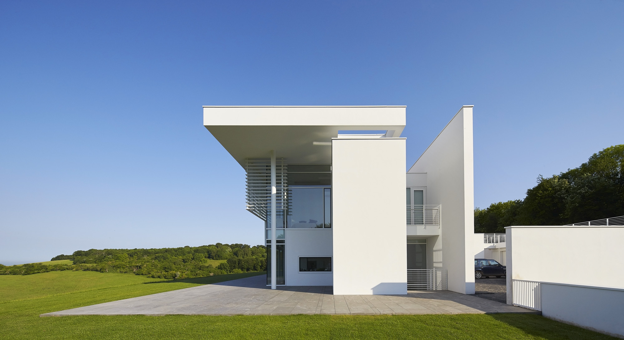 Modern Minimalist Houses Gallery Of Oxfordshire Residence Richard Meier