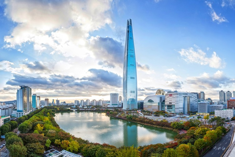Seoul's Lotte World Tower Completes as World's 5th Tallest Building, © CTBUH