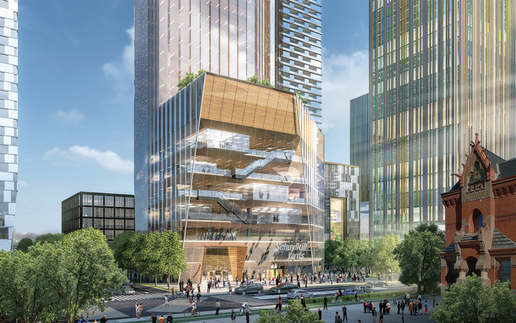 Novas imagens do projeto Schuylkill Yards de SHoP e West 8, © SHoP Architects / West8. Courtesy Brandywine Realty Trust