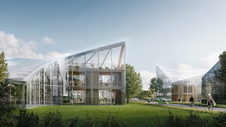 Zaha hadid architects unveils designs for sports centered eco technology hub in england courtesy