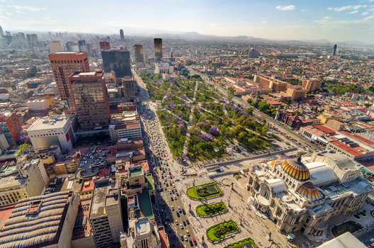 An aerial view of Mexico City. Image © Jess Kraft