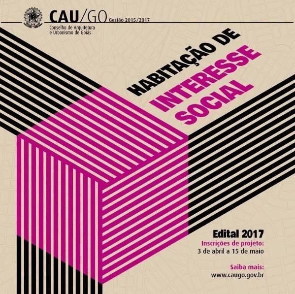 CAU/GO abre edital para projetos de habitação social, via CAU/GO
