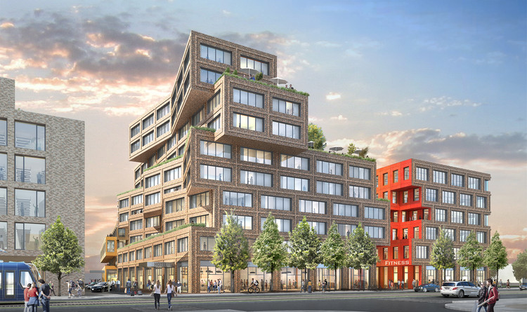 Hollwich Kushner Unveils Plans for Mixed-Use Business District in Munich, Hollwich Kushner design . Image Courtesy of Art-Invest Real Estate and Accumulata Immobilien