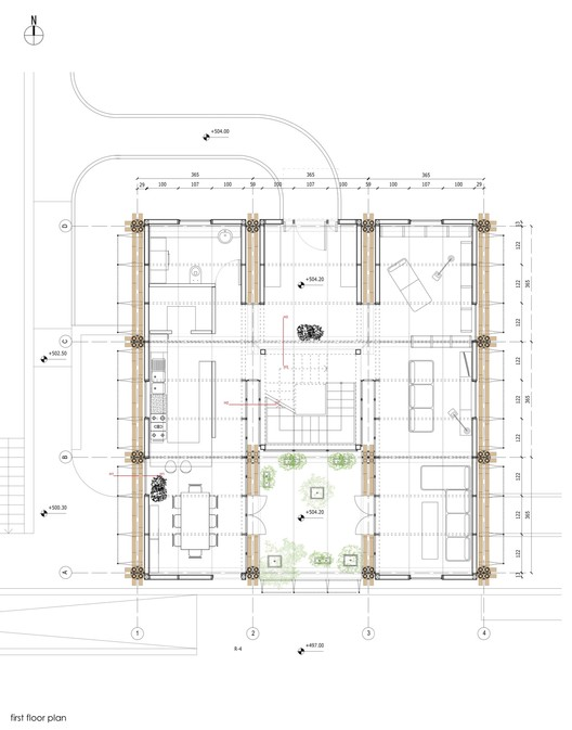 Energy efficient bamboo house studio cardenas conscious - Bamboo house design and floor plan ...