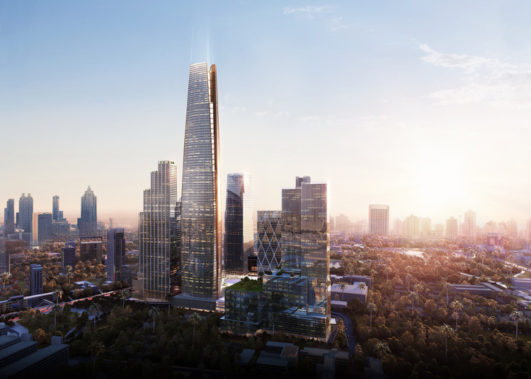 Vertical Village - SOM Leads Design of Major Mixed-Use District in Bangkok, One Bangkok will provide retail, hotels, offices, as well as homes for 60,000 people. Image Courtesy of SOM via Atchain