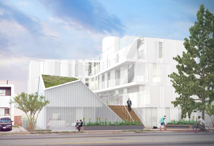 Projeto de LOHA reduz o déficit de habitações sociais em Los Angeles, Cortesia de Lorcan O'Herlihy Architects
