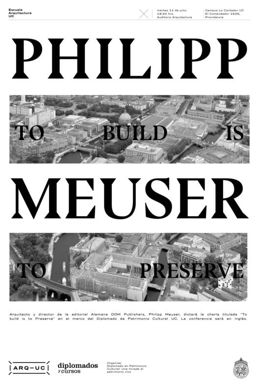 Conferencia Philipp Meuser en Santiago