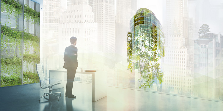 7 Ways Architects Can Work Toward Carbon Neutral Buildings by 2030, Image composite by Micke Tong