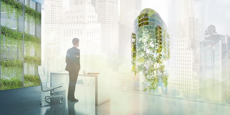 7 maneras que los arquitectos pueden llegar a edificios neutrales en huella de carbono para el año 2030, Imagen compuesta por Micke Tong