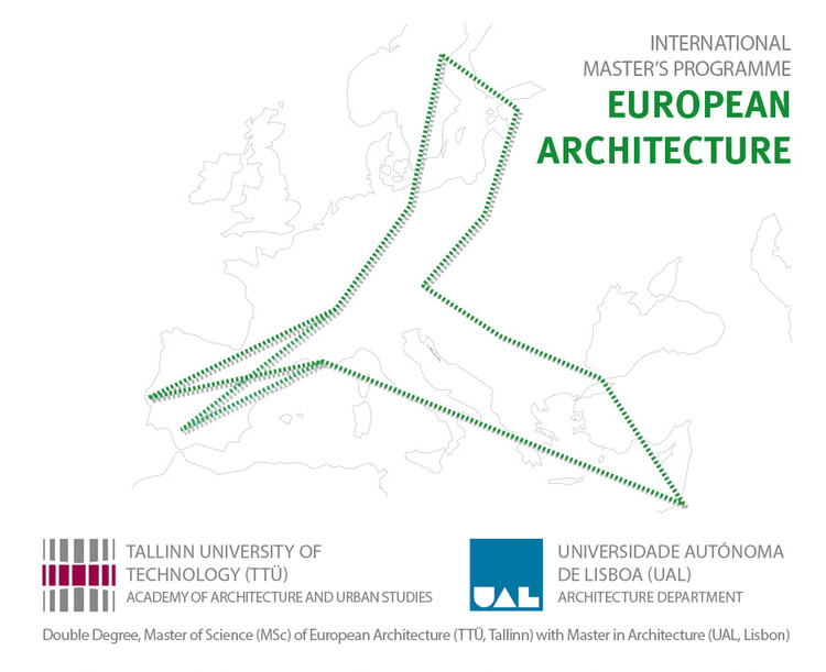 Double Degree International Master's Program - European Architecture, International Masters Program European Architecture, Reiseuni_lab and: Logo©jp3_Christian Pieper