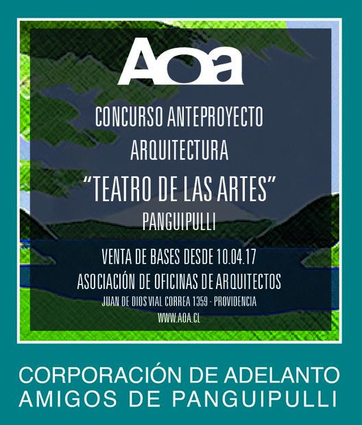Concurso de Anteproyecto 'Teatro de las Artes Panguipulli', AOA