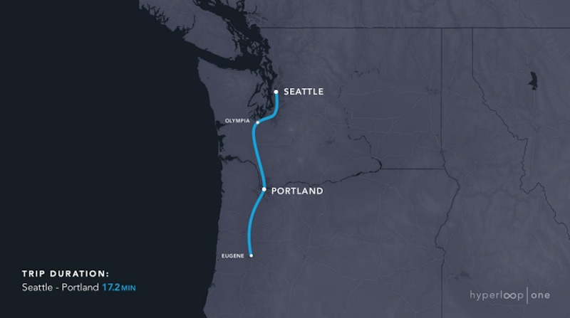 Gallery of Hyperloop One Releases Map of 11 Proposed US Systems 3